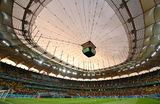 Панорамный вид стадиона «Лия Манолиу» в Бухаресте во время матча «Евро-2020» между сборными Австрии и Северной Македонии.