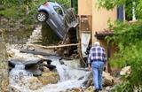 Последствия сильного шторма в швейцарском муниципалитете Крессье.