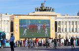 Открытие зоны публичного просмотра матчей «Евро-2020» в Санкт-Петербурге.