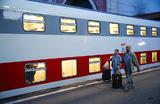Туристический поезд «Байкальская сказка» перед отправлением в первый рейс с Казанского вокзала.