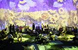 Посетители выставки «Ван Гог: иммерсивный опыт», которая проходит в Лондоне созерцают 360-градусный анимированный монтаж работ великого голландского художника.